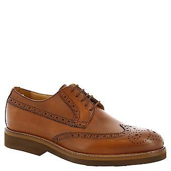 Ups dentelle à la main de l'homme Leonardo chaussures en cuir tan de brogues