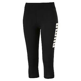 Puma de Verão 3/4 das mulheres senhoras esportes Fitness Capri Legging preto