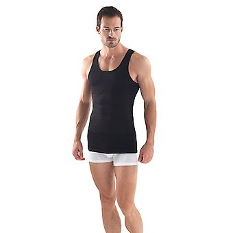 BlackSpade M9209 Men's Body Control Black Tank Vest Top