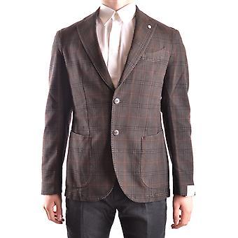 L.b.m. Ezbc215002 Men's Brown Cotton Blazer