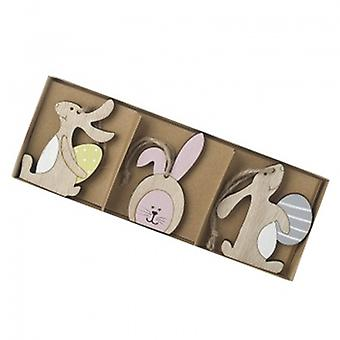 3 Pastell hängenden Easter Bunny Baumschmuck