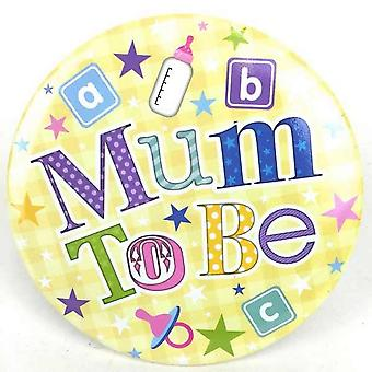 Simon Elvin Giant Mum To Be Badge