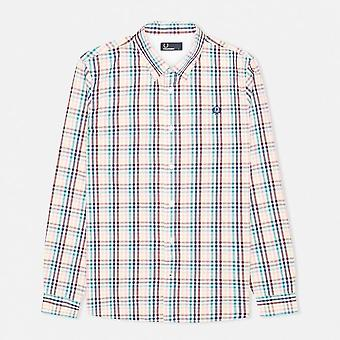 Fred Perry Men's Bold Gingham Long Sleeve Shirt M7247-100