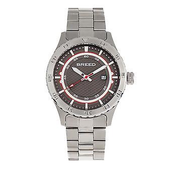 Breed Mechanic Bracelet Watch w/Date - Grey
