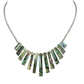 Evige samling Idaho naturlige Abalone dimitterede Fan Sterling sølv halskæde
