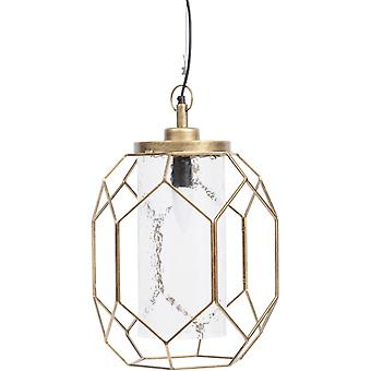 Balance Furniture Antique Gold Cage Pendant