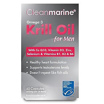 Huile de krill Cleanmarine pour hommes 600mg Marine Gelcaps 60 (NOV012)