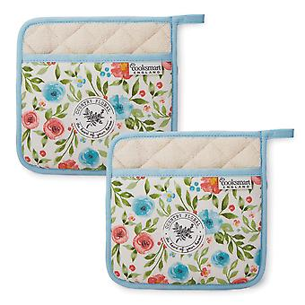 Cooksmart Country Floral Set of 2 Pot Holders