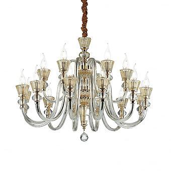 Ideale Lux Strauss 18 Glühbirne Anhänger Licht