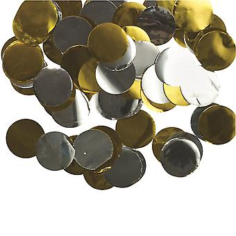 Bristol Novelty Metallic Mix Round Paper Confetti