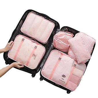 Set of organizing bags, 6 pcs-striped