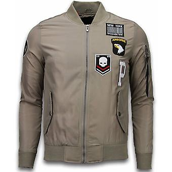 BomberJack - Airborne Patches - Beige