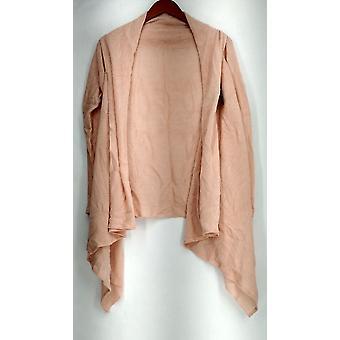 Lizden Plus Sweater XS/S Whisperlush Open Front Cardigan Peach Pink A271930
