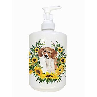 Carolines Treasures  CK2952SOAP Beagle Ceramic Soap Dispenser