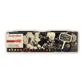 Conte a Paris Artists Colour Crayons 24 Assorted Colours