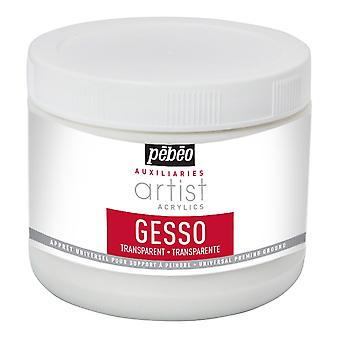 Pebeo Artist Acrylics Auxiliaries Transparent Gesso 500ml