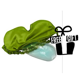 Aroma Home Cooling Gel Satin Eye Mask: Lime