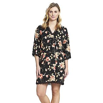 Rosch 1193617-16403 Women's New Romance Black Floral Cotton Nightdress