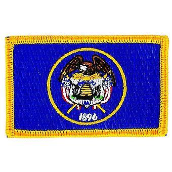 Patch Ecusson Brode Flag Utah Thermocollant USA Americain USA
