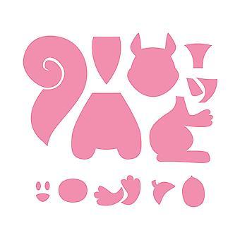 Marianne Design Collectables Eline's Squirrel Die, Pink