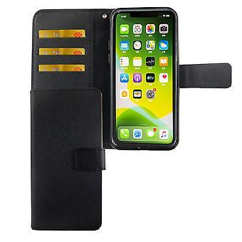 Custodia per telefono Apple iPhone 11 Custodia protettiva custodia flip case con vassoio carta nero