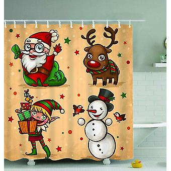 Christmas Characters Painting Shower Curtain