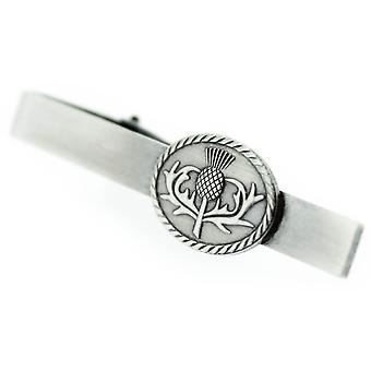 Pewter Scottish Thistle The Flower Of Scotland Tie Bar