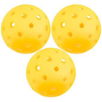 3-Pack of Pickleball Balls, Goldenrod Yellow