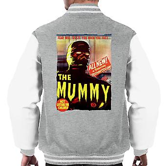Hammer Horror Films Mummy Movie Poster Men's Varsity Jacket