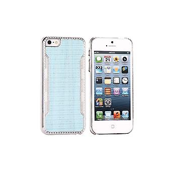 Blue Plastic Shell Silver Contour For IPhone 5