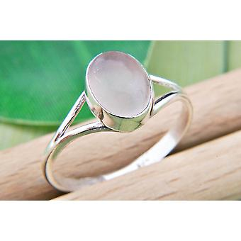 Rose Quartz Ring 925 Argento Sterling Argento Anello Femminile Rosa (MRI 92-07)