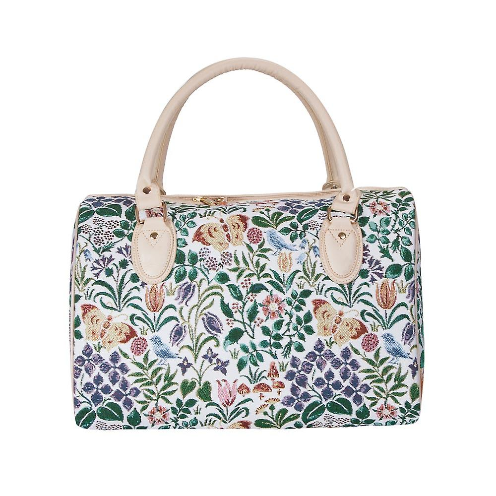 Voysey - spring flowers luggage travel bag by signare tapestry / trav-spfl