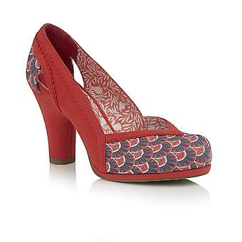 Ruby Shoo Mujeres's Livia Platform Court Shoe & Matching Oxford Bag