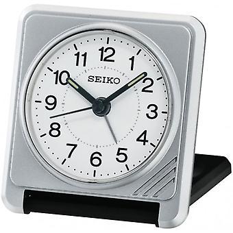 Seiko Travel Alarm Clock - Silver (QHT015S)