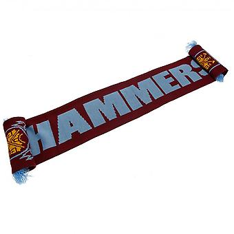 West Ham United FC Hammers Scarf