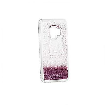 Case Samsung S9 Dulceida DLCAR007 Transparent Glitter Pink