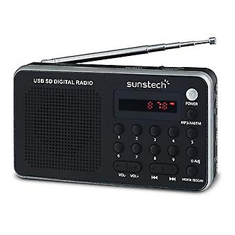 Sunstech RPDS32SL Silber tragbare digitales Radio