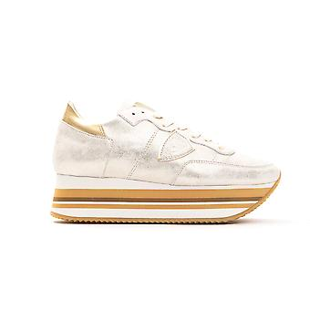 Women's Philippe Model Gold Sneakers