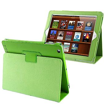 For iPad 2/3/4 Case,Modern Lychee Leather High-Quality Shielding Cover,Green