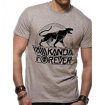 Black Panther Unisex Adults Wakanda Forever Design T-shirt