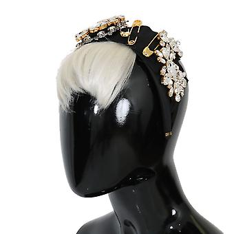 Dolce & Gabbana Black Crystal White Hair Headband