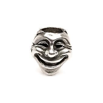 Trollbeads Theatre Masks Silver Bead