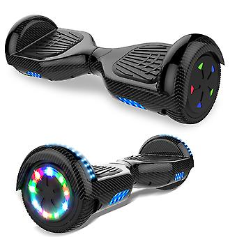 Right Choice Hoverboard Self Balanced Electric Scooter - eingebaute Bluetooth Lautsprecher - LED Wheel-Carbon black