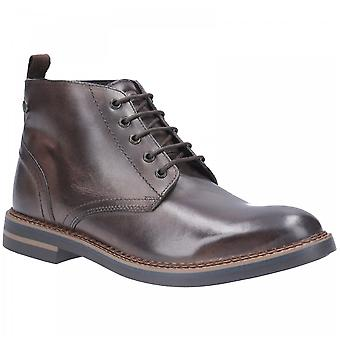 Base London Cocoa Leather Raynor Burnished Lace Up Boots