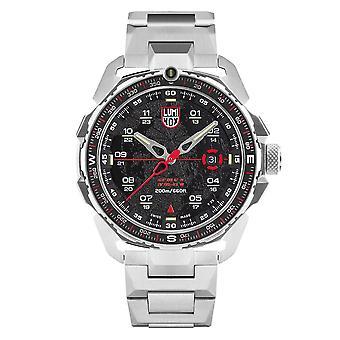 Luminox Ice-Sar Arctic Quartz Black Dial Zilver Roestvrij Stalen Men's Watch XL.1202