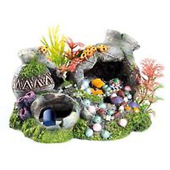 Classic For Pets Jars w/Plants & Air 180mm (Fish , Decoration , Ornaments)