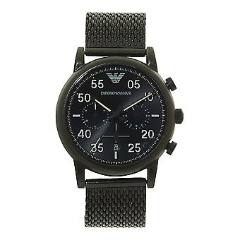 Armani Watches Ar11115 Khaki Green Stainless Steel Chronograph Men's Watch