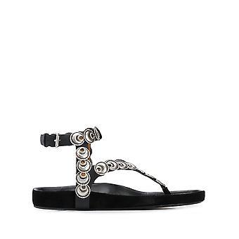 Isabel Marant Sd050020p015s01bk Women's Black Leather Sandals