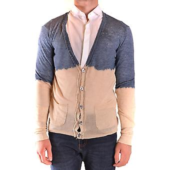 Messagerie Ezbc431002 Men's Beige/blue Linen Cardigan