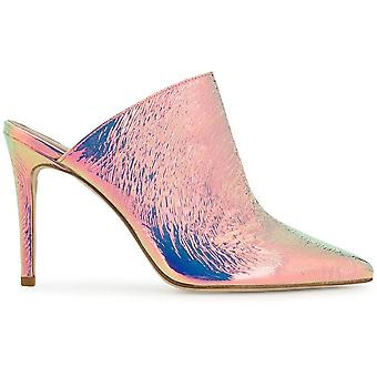 Paris Texas Px146iridescentsilve Women's Pink Leather Slippers